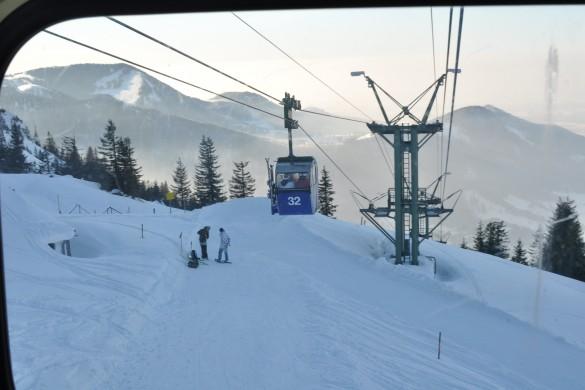 Ski fahren auf der Kampenwand